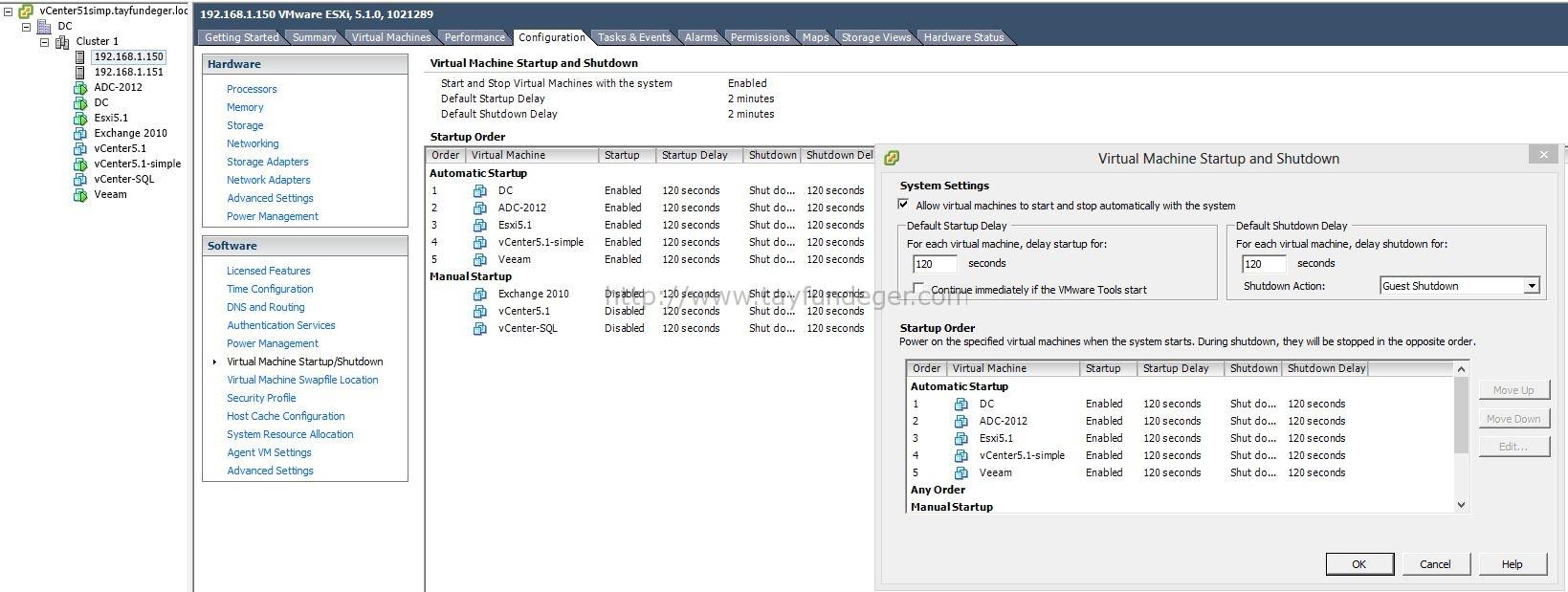 VMware Üzerine Kurulu Sanal Makinaların Otomatik Başlatılması
