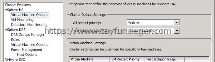 vsphere ha machine failover failed