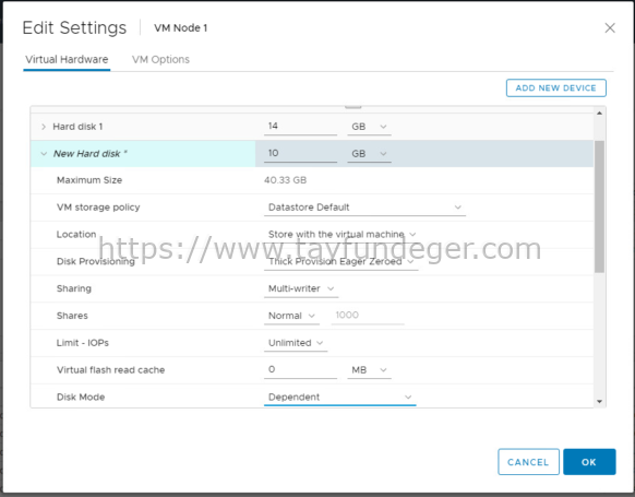 Change Multi Writer Disk