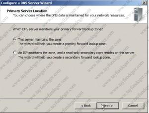 primary Server location